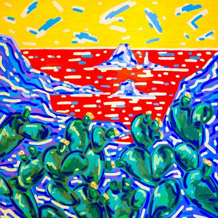 Fichi d'india | Acrilico su tela 150x150